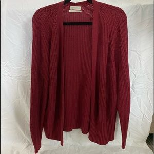 Urban Outfitters Maroon Knit Cardigan